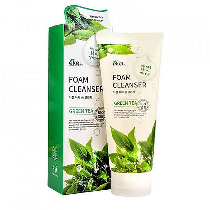 """EKEL """"Foam Cleanser Green Tea"""" Пенка для умывания с экстрактом зеленого чая, 180"""