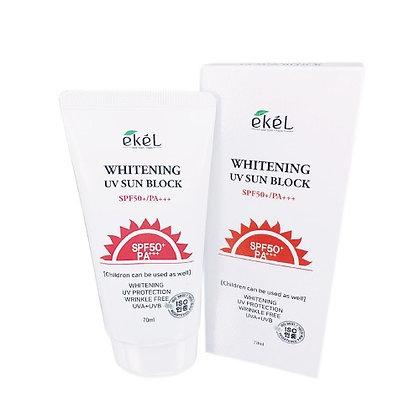 EKEL Whitening UV Sun Block Солнцезащитный осветляющий крем для лица, 70мл.