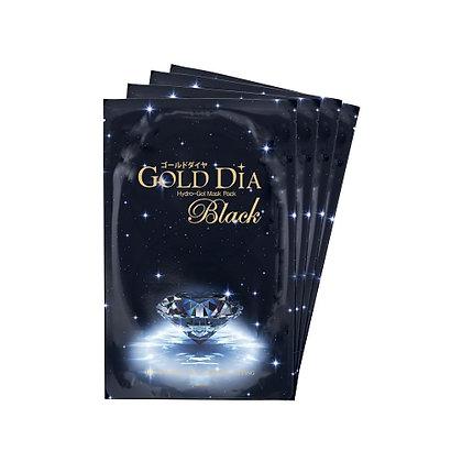 "Miskin GoldDiaBlack HydroGelMask"" Гидрогелевая маска с золотом и углем,5шт.260гр"