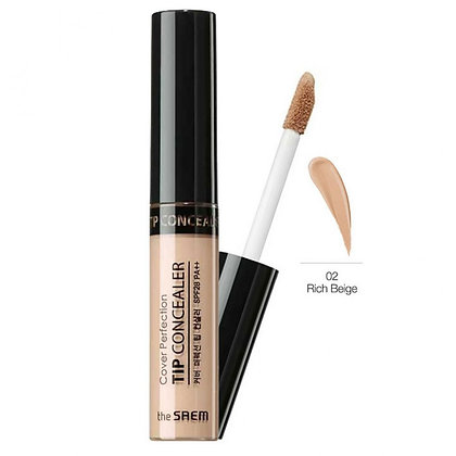 THE SAEM Cover Perfection Tip Concealer 02.Rich Beige Консилер 6.5 гр
