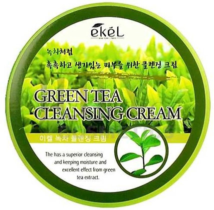 """EKEL """"Cleansing Cream Green Tea"""" Очищающий крем с экстрактом зеленого чая, 300мл"""