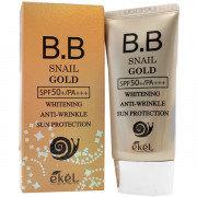 "EKEL ""BB Cream Gold (Tube) Snail"" BB крем омолаживающий с Улиточным муцином, 50м"
