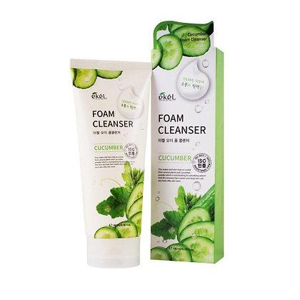 "EKEL ""Foam Cleanser Cucumber"" Пенка для умывания с экстрактом огурца, 180мл."