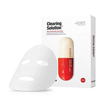 Dr.Jart+ Clearing Solution Очищающая тканевая маска для проблемной кожи 5шт., корейская косметика оптом, Rich cosmetic