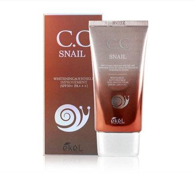 "EKEL ""CC Cream (Tube) Snail"" CC крем с улиточным муцином, 50мл."
