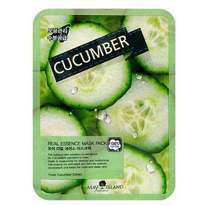 May Island Real Essense Cucumber Mask Pack Тканевая маска с огурцом, 10шт.25мл.
