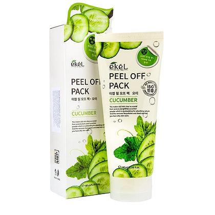 """EKEL """"Peel off pack Cucumber"""" Маска-пленка с экстрактом огурца, 180мл."""