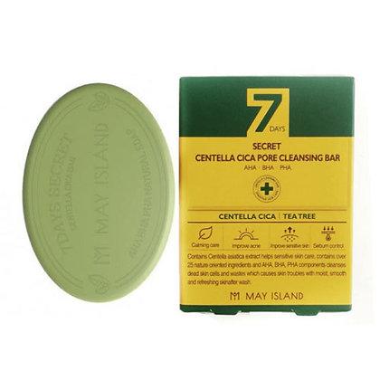 May Island 7Days Secret Centella Cica Pore Cleansing Bar Мыло для лица, 100гр