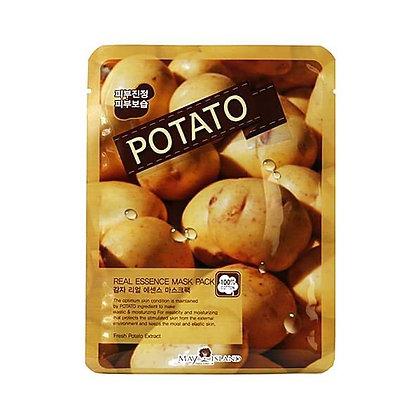 May Island Real Essense Potato Mask Pack Тканевая маска с картофелем, 10шт.25мл.