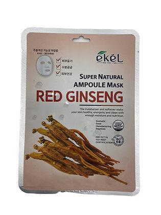 "EKEL ""Ampoule Mask Red Ginseng"" Маска с экстрактом женьшеня, 25гр."