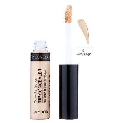 THE SAEM Cover Perfection Tip Concealer 01.Clear Beige Консилер 6.5 гр