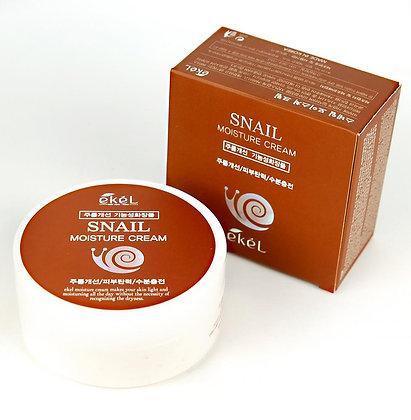 "EKEL ""Moisture Cream Snail"" Увлажняющий крем с муцином улитки, 100мл."