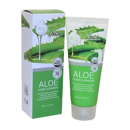 """EKEL """"Foam Cleanser Aloe"""" Пенка для умывания с алоэ, 100мл."""