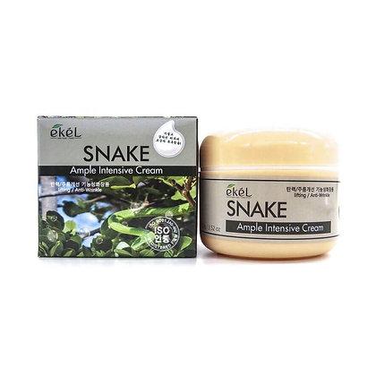 """EKEL """"Ampule Intensive Cream Snake """" Антивозрастной крем со змеиным ядом, 100мл."""