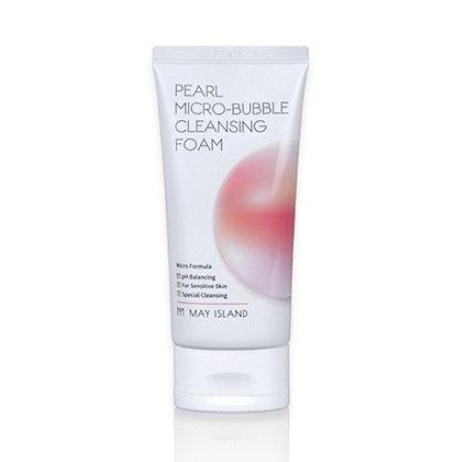 May Island Pearl Micro-Bubble Cleansing Foam Пенка микро пилинг для лица, 120мл.
