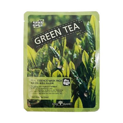 May Island RealEssense GreenTea Mask Pack Тканевая маска с зеленым чаем10шт.25мл