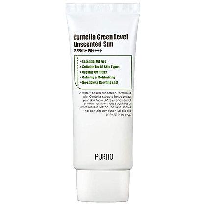 PURITO Centella Green Level Unscented Sun SPF50+ PA++++Солнцезащитный крем,60мл.