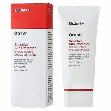 Dr Jart+ Ctrl-A Sensitive Sun Protector SPF 35/PA++ Солнцезащитный лечебный крем, корейская косметика оптом, Rich cosmetic