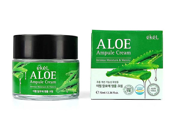"EKEL ""Ampule Cream Aloe"" Ампульный крем с алоэ, 70мл."