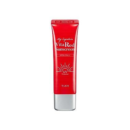 TIAM My SignatureVitaRed Sunscreen Солнцезащитный крем  с  витамином C,50мл.72гр
