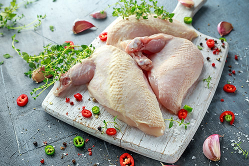Pack of 4 British Chicken Breast  and 4 Legs (Skin on, Bone in)