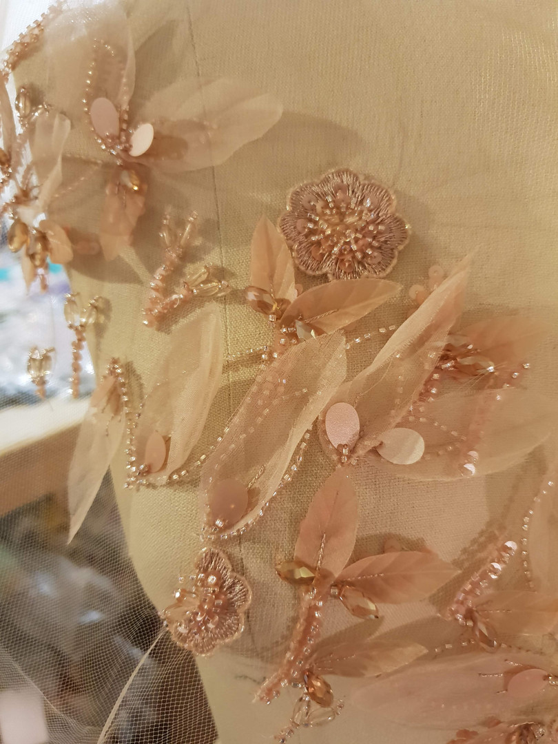 Embroidery for Gown