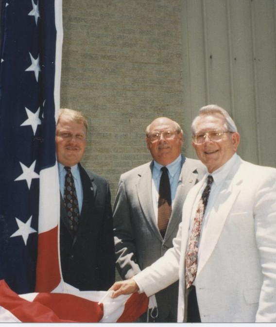 Nations, James F dedication of the flag