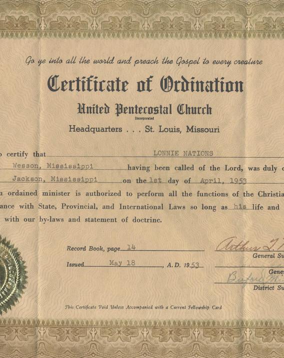 Lonnie Nations Ordination License 001.jp