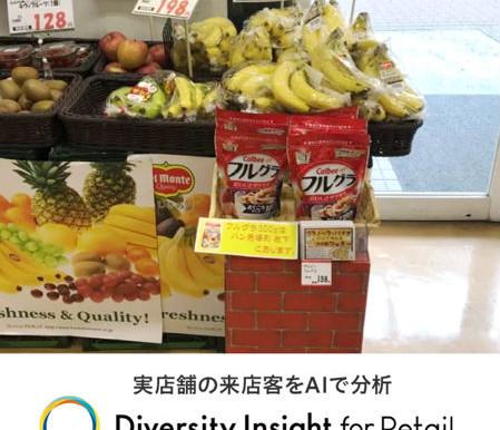 スーパーマーケットの売場への立寄率、AI分析の導入で見える化