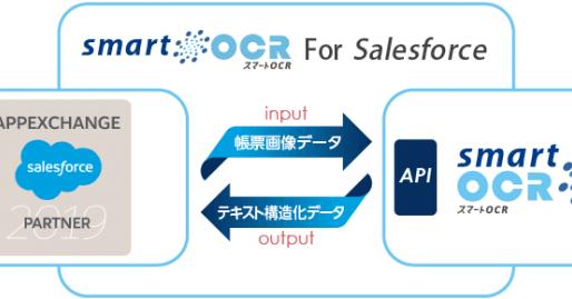 人工知能OCRを用いたWEBクラウドサービス「スマートOCR for Salesforce」のAPI連携を開始