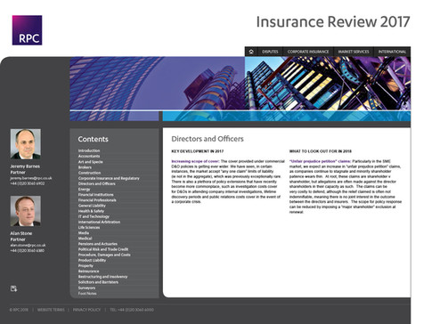 Insurance Review - Interactive report