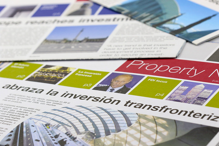 Real estate newspapers - design and copy editing