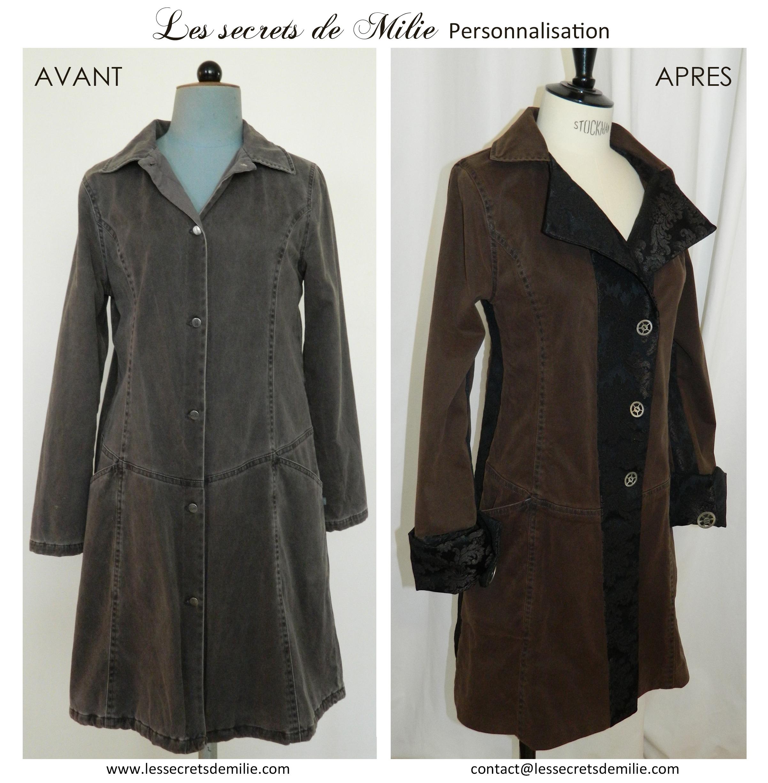Manteau avant après