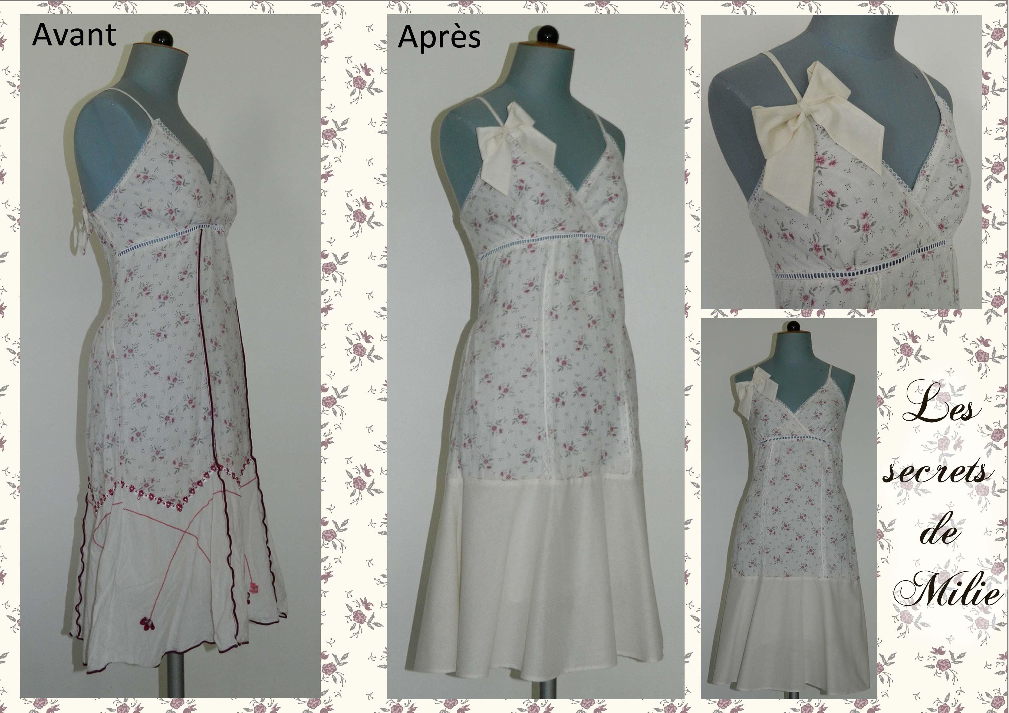 robe petites fleurs Les secrets de Milie