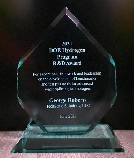 TechScale Solutions Receives US Department of Energy R&D Team Award