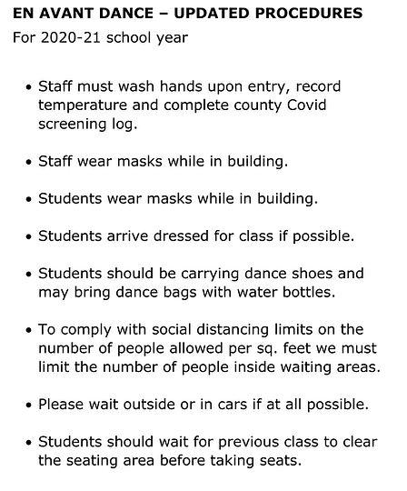 20 21 UPDATED EN AVANT DANCE rules summa