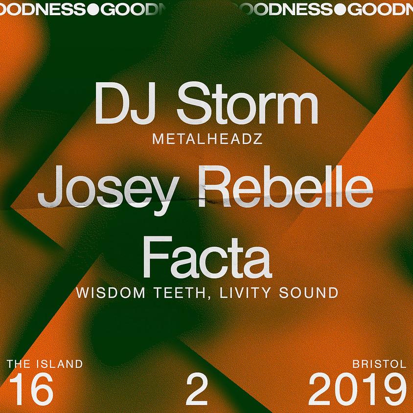 Goodness: Dj Storm, Josey Rebelle, Facta