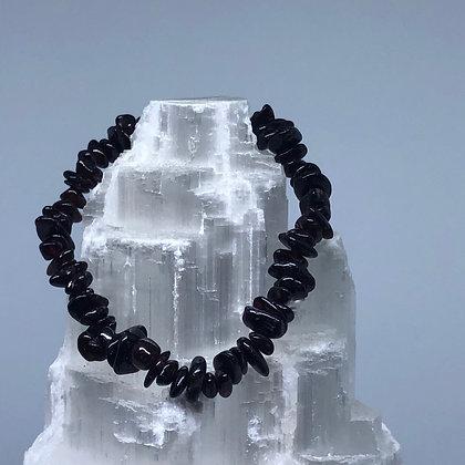 Garnet Crystal Chip Bracelet - Evoking Serenity