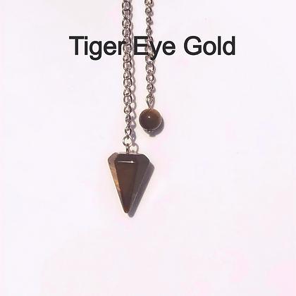 Tiger Eye Pendulum - LMG Rocks and Crystals