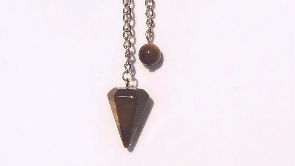 Tiger Eye Pendulum - LMG Rocks and Crystals