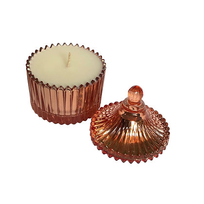 Rose Gold Carousel Soy Wax Candle - Evoking Serenity
