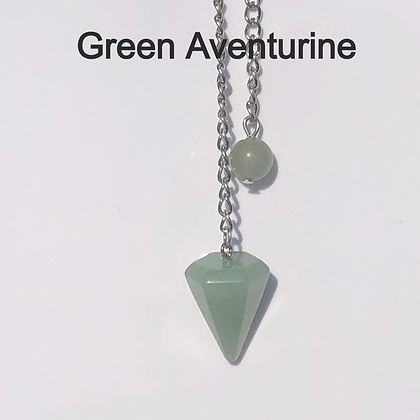 Green Aventurine Crystal Pendulum - LMG Rocks and Crystals