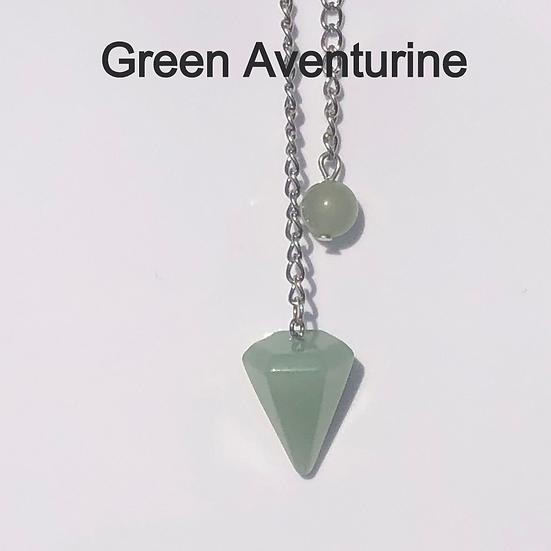 Green Aventurine Crystal Pendulum- LMG Rocks and Crystals