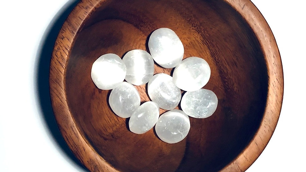 Selenite tumbled - LMG Rocks and Crystals