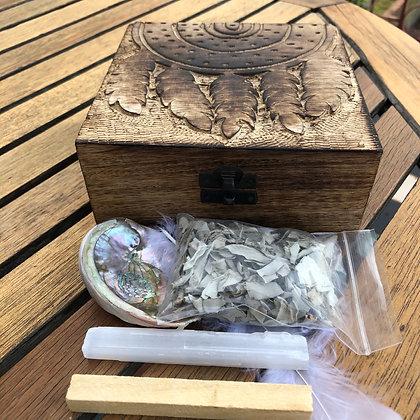 Dream Catcher Smudging kit - Evoking Serenity