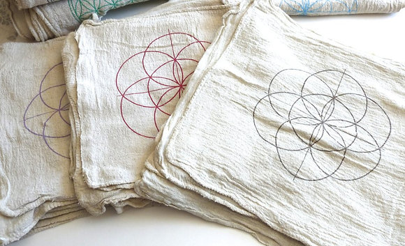 Seed of Life Crystal Grid Cloth - Evoking Serenity