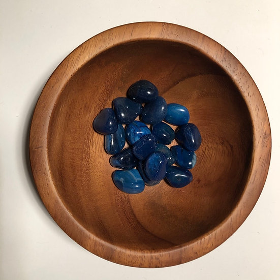 Blue Agate Tumbled - LMG Rocks and Crystals