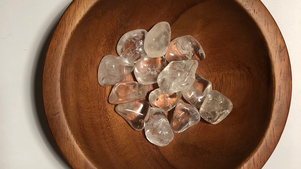 Clear Quartz Tumbled - LMG Rocks and Crystals