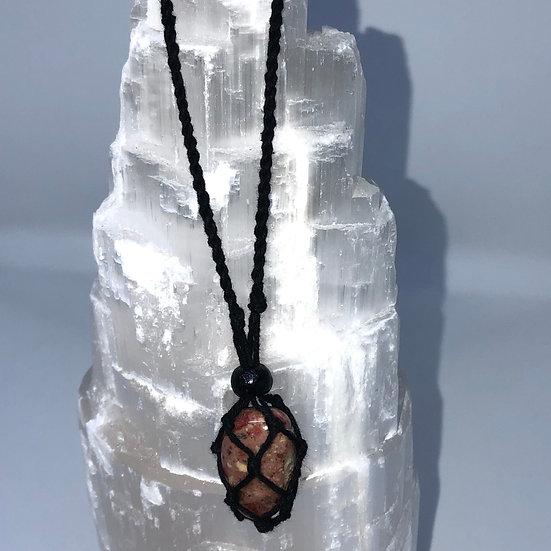 Black Macrame Necklace - LMG Rocks and Crystals