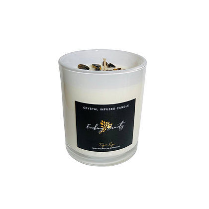 Tiger Eye Crystal Infused Candle